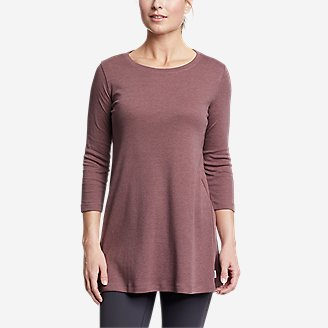 Women's Favorite 3/4-Sleeve Tunic T-Shirt in Pink