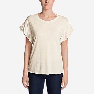 Women's Willow Short-Sleeve Ruffle Top in White