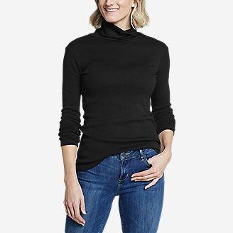 Women's Favorite Long-Sleeve Turtleneck - Solid in Black