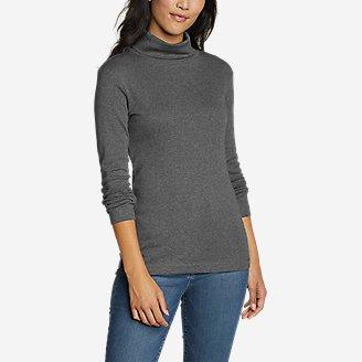 Women's Favorite Long-Sleeve Turtleneck - Solid in Gray