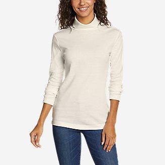 Women's Favorite Long-Sleeve Turtleneck - Solid in White