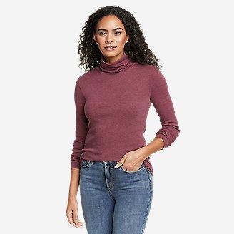 Women's Favorite Long-Sleeve Turtleneck - Solid in Red