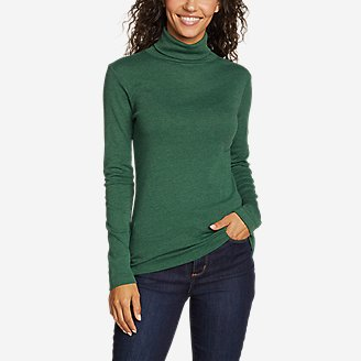 Women's Favorite Long-Sleeve Turtleneck - Solid in Green