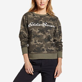 Women's Camp Fleece Logo Crewneck Sweatshirt - Easy in Green