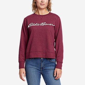 Women's Camp Fleece Logo Crewneck Sweatshirt - Easy in Red