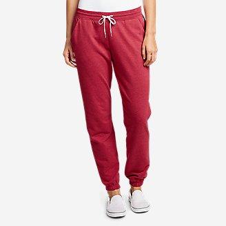Women's Camp Fleece Jogger Pants in Red