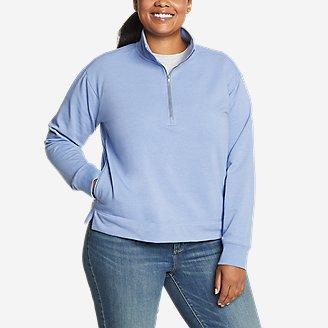 Women's Cozy Camp 1/4-Zip Sweatshirt in Blue