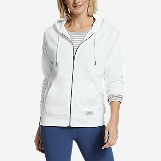 Women's Cozy Camp Full-Zip Hoodie in White