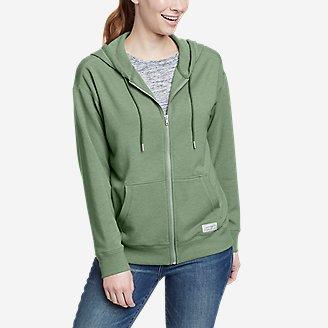 Women's Cozy Camp Full-Zip Hoodie in Green