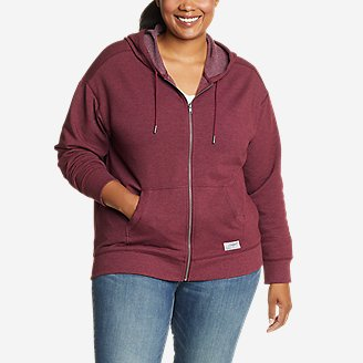 Women's Cozy Camp Full-Zip Hoodie in Red