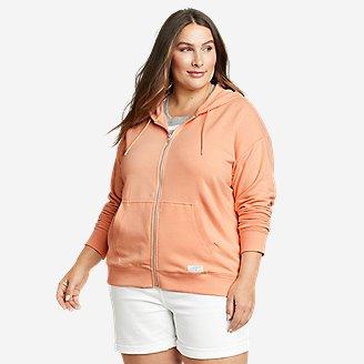 Women's Cozy Camp Full-Zip Hoodie in Orange