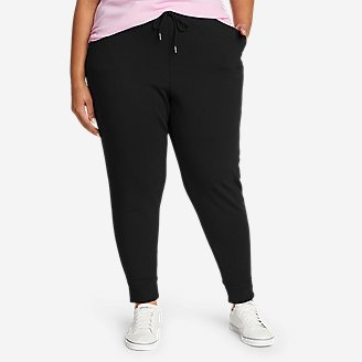 Women's Cozy Camp Fleece Jogger Pants in Black