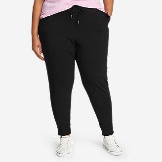 Women's Cozy Camp Fleece Jogger Pants in Black