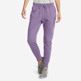 Women's Cozy Camp Fleece Jogger Pants in Purple