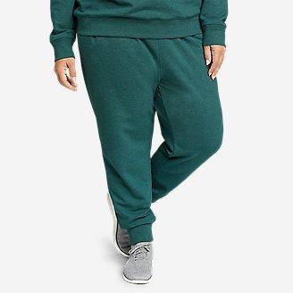 Women's Cozy Camp Fleece Jogger Pants in Green