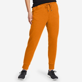 Women's Cozy Camp Fleece Jogger Pants in Yellow