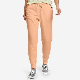 Women's Cozy Camp Fleece Jogger Pants in Orange