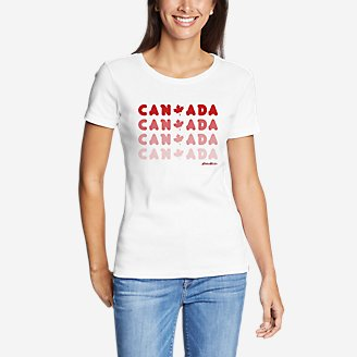 Women's Graphic T-Shirt - Canada in White