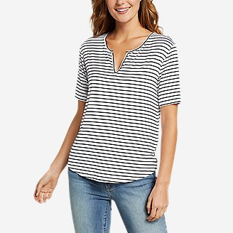 Women's Soft Layer Notch-Neck T-Shirt in White