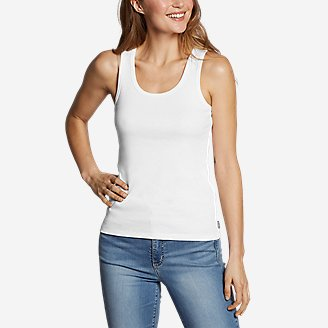 Women's Favorite Scoop-Neck Tank Top - Solid in White