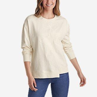 Women's Americana Sweatshirt - Star in White