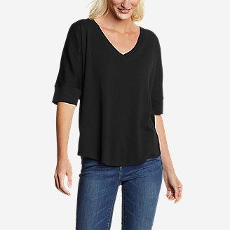Women's Favorite Short-Sleeve V-Neck Easy T-Shirt in Black