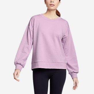 Women's Cozy Camp Puff-Sleeve Sweatshirt in Purple