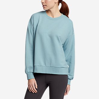 Women's Cozy Camp Puff-Sleeve Sweatshirt in Blue