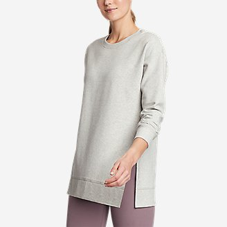 Women's Motion Cozy Camp Long-Sleeve Tunic in Gray