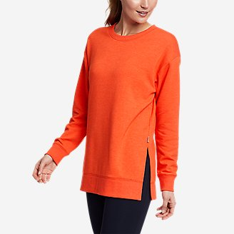 Women's Motion Cozy Camp Long-Sleeve Tunic in Red