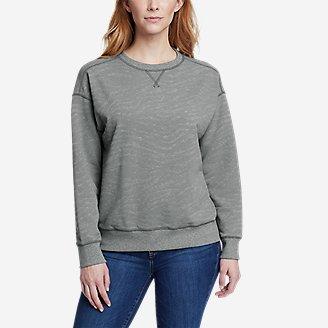 Women's Cozy Camp Crewneck Sweatshirt - Print in Gray