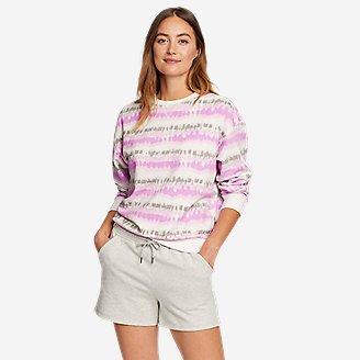 Women's Cozy Camp Crewneck Sweatshirt - Print in Purple