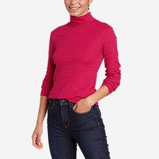 Women's Favorite Long-Sleeve Turtleneck - Stripe in Purple