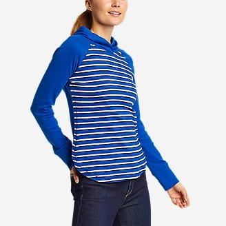 Women's Favorite Shirttail Hem Long-Sleeve Hoodie in Blue
