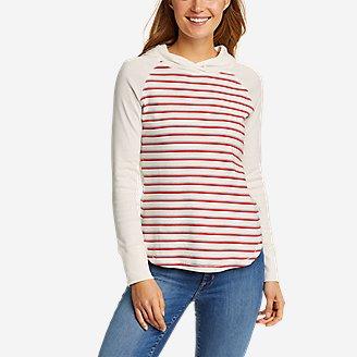 Women's Favorite Shirttail Hem Long-Sleeve Hoodie in Beige