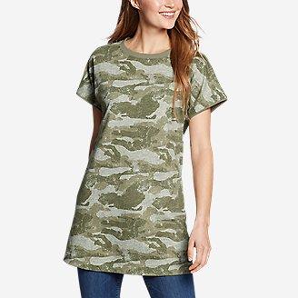Women's Camo Short-Sleeve Tunic in Green
