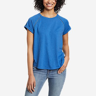 Women's Myriad Roll-Sleeve T-Shirt in Blue