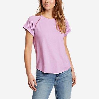Women's Myriad Roll-Sleeve T-Shirt in Purple