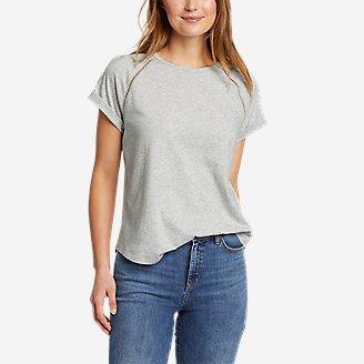 Women's Myriad Roll-Sleeve T-Shirt in Gray