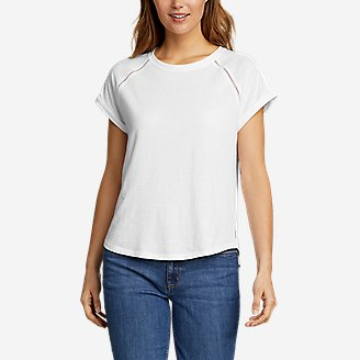 Women's Myriad Roll-Sleeve T-Shirt in White