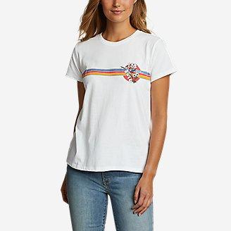 Women's Graphic T-Shirt - Chest Stripe in White