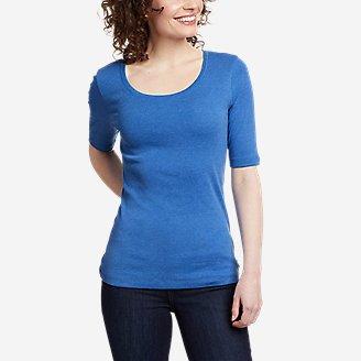 Women's Favorite Elbow-Sleeve T-Shirt in Blue