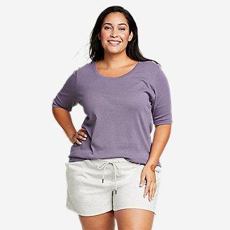 Women's Favorite Elbow-Sleeve T-Shirt in Purple