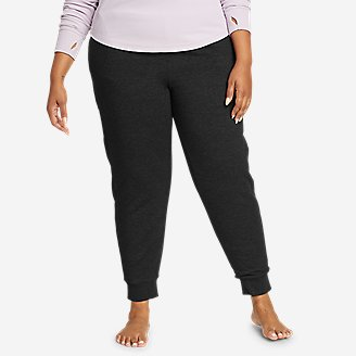 Women's Snow Lodge Faux Shearling-Lined Jogger Pants in Black
