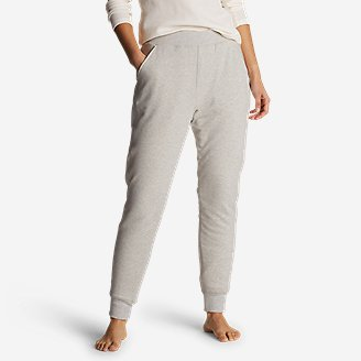 Women's Snow Lodge Sherpa-Lined Jogger Pants in Gray