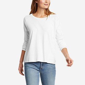 Women's Favorite Long-Sleeve Raglan Crew T-Shirt in White