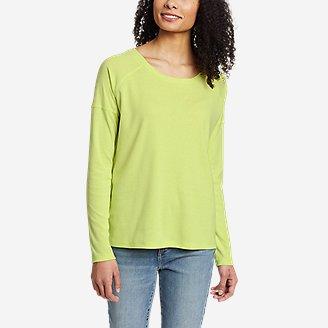 Women's Favorite Long-Sleeve Raglan Crew T-Shirt in Green
