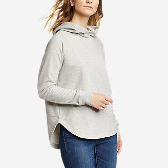 Women's Cozy Camp Shirttail Hem Hoodie in Gray