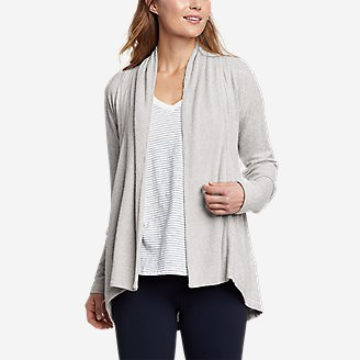 Women's Mixed-Stitch Wrap in Gray