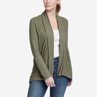 Women's Mixed-Stitch Wrap in Green